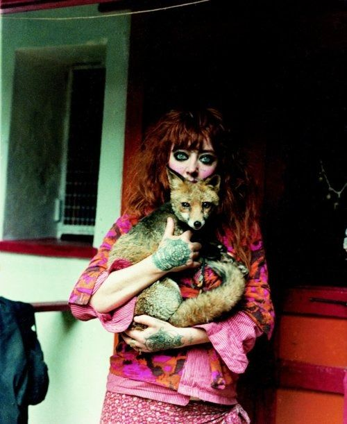 Vali Myers and her pet fox, Foxy