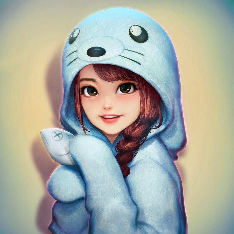 Bnk48 Orn By Neoartcore Cartoon Girl Images Girl Cartoon Characters Cute Cartoon Girl