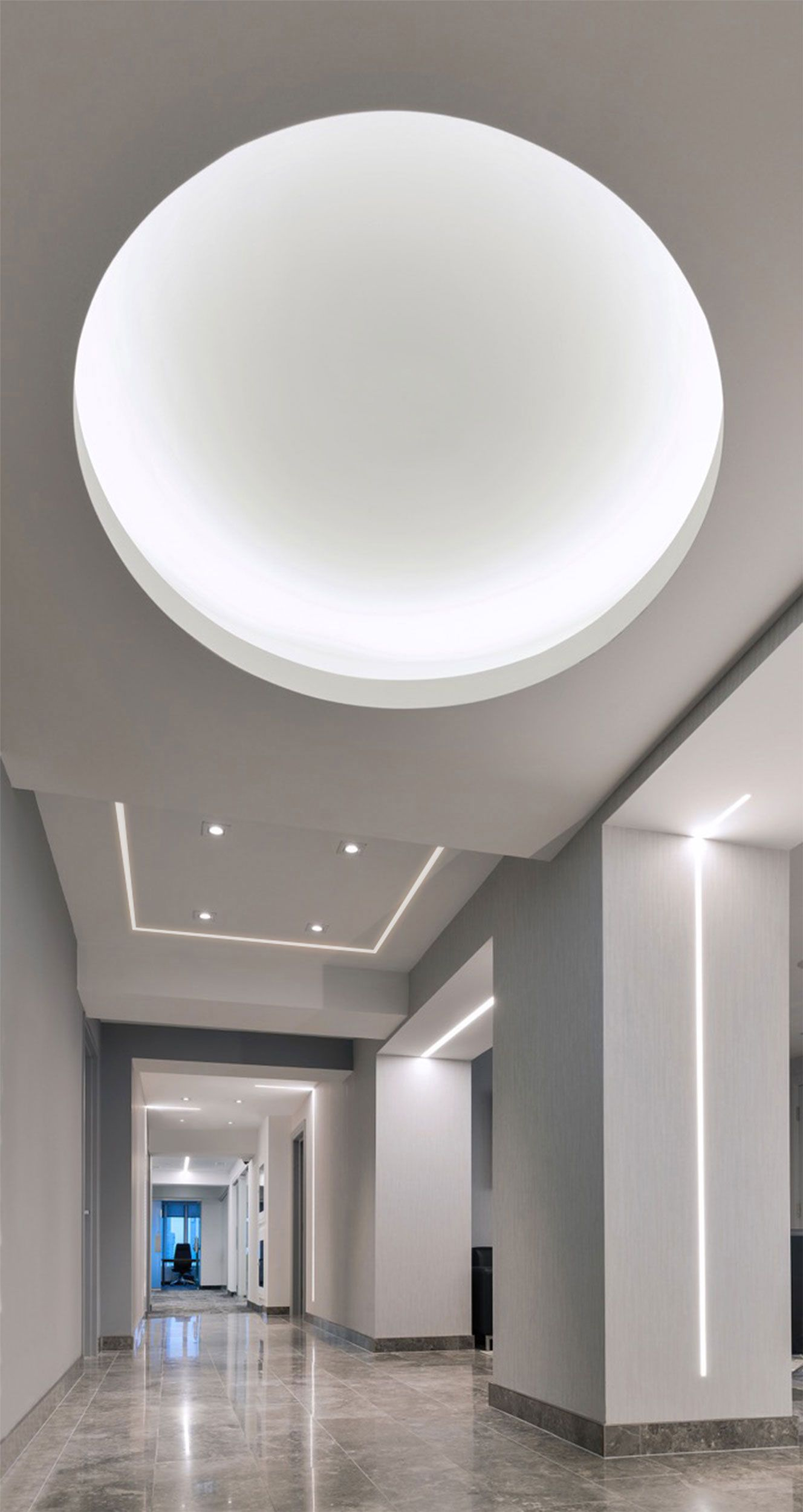 Truline 1 6a plaster in led system 10w 24vdc by pure lighting