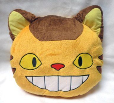 Amazon.com: Totoro: 15-inch Cat Bus Plush Bed Pillow: Toys & Games