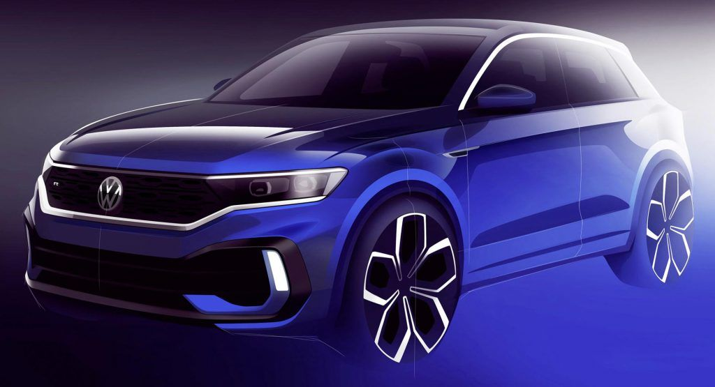 Vw T Roc R Hot Suv Previewed As 300hp Near Production Concept Volkswagen Suv Car Design