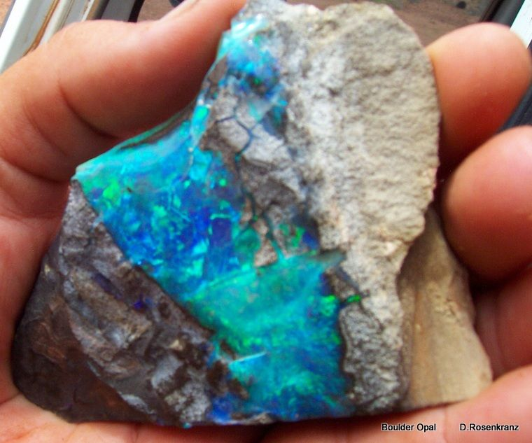 Boulder Opal rough from the Yappra mining area Quilpie Shire