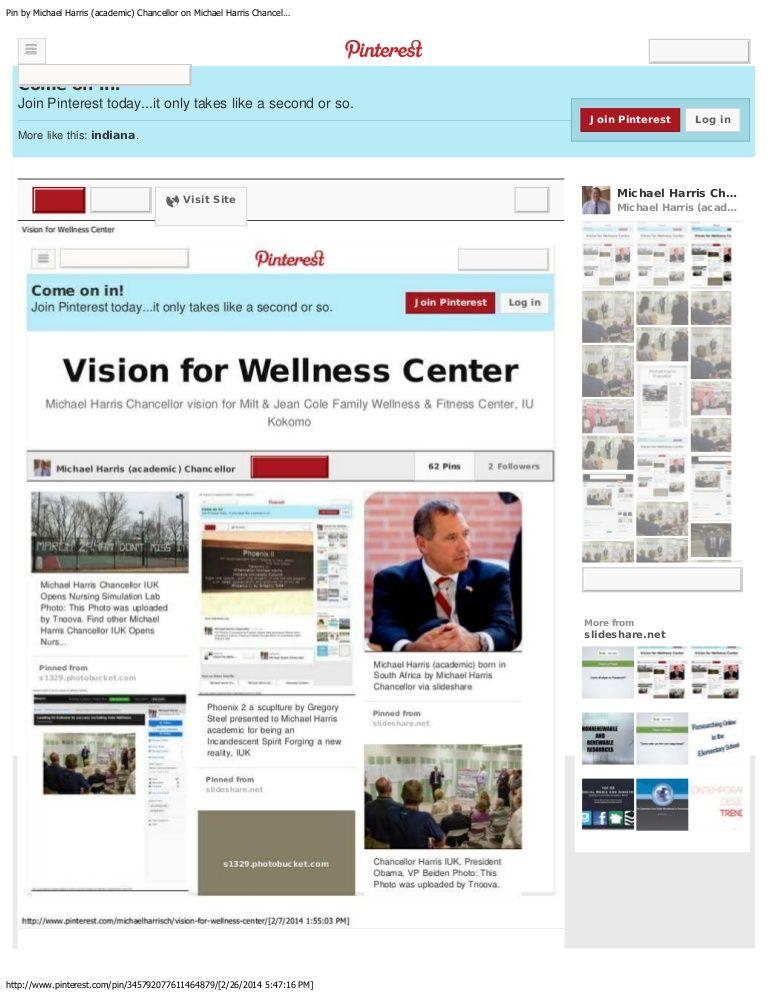 Chancellor Michael Harris Vision Wellness center, Family
