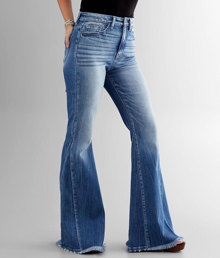 Kancan Signature Ultra Rise High Super Flare Jean Women S Jeans In Lindsey Buckle In 2020 Super Flare Jeans Flare Jeans High Waisted Flare Jeans