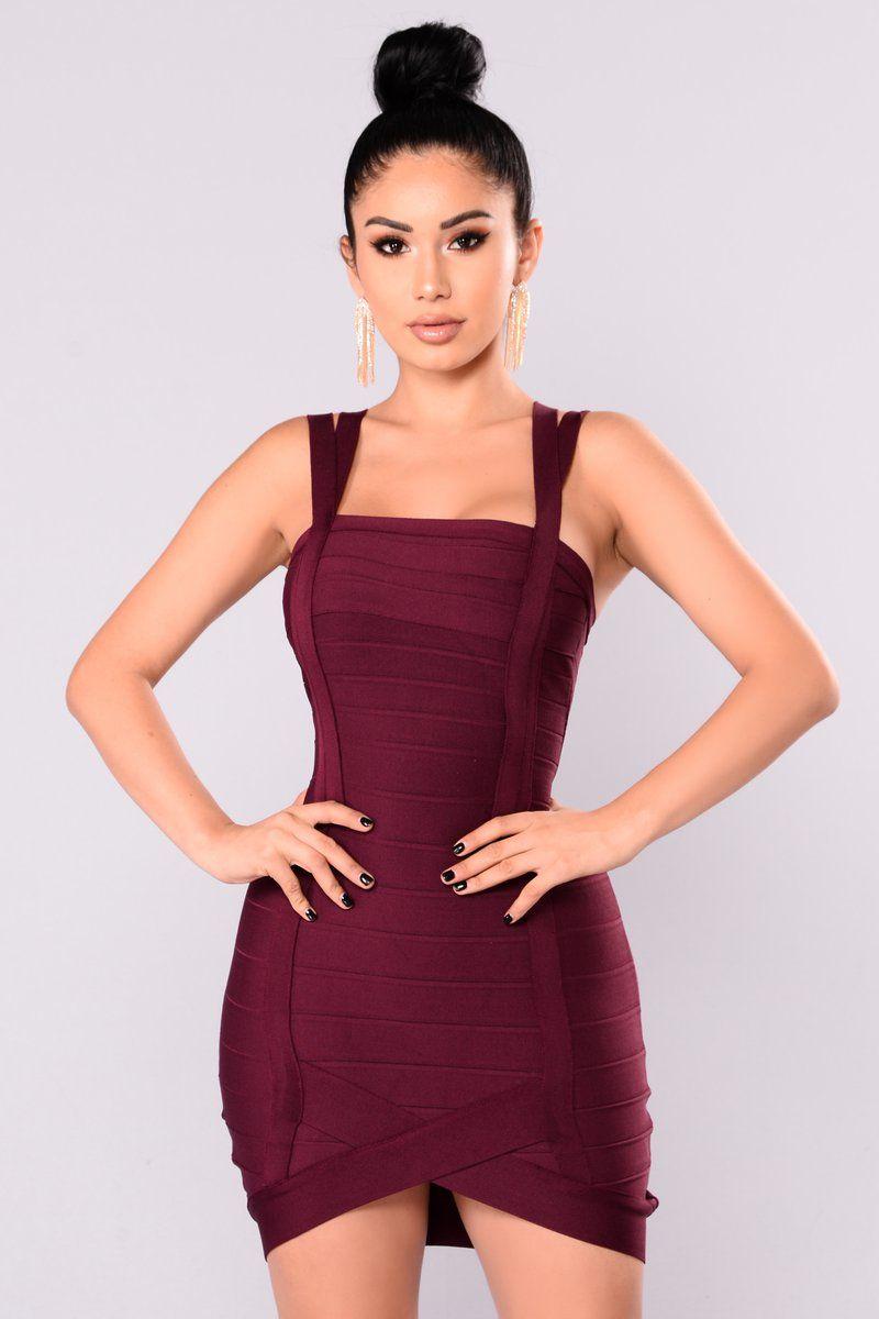Lisbon Bandage Dress Berry Fashion Mini Dress Short Dresses Casual [ 1200 x 800 Pixel ]