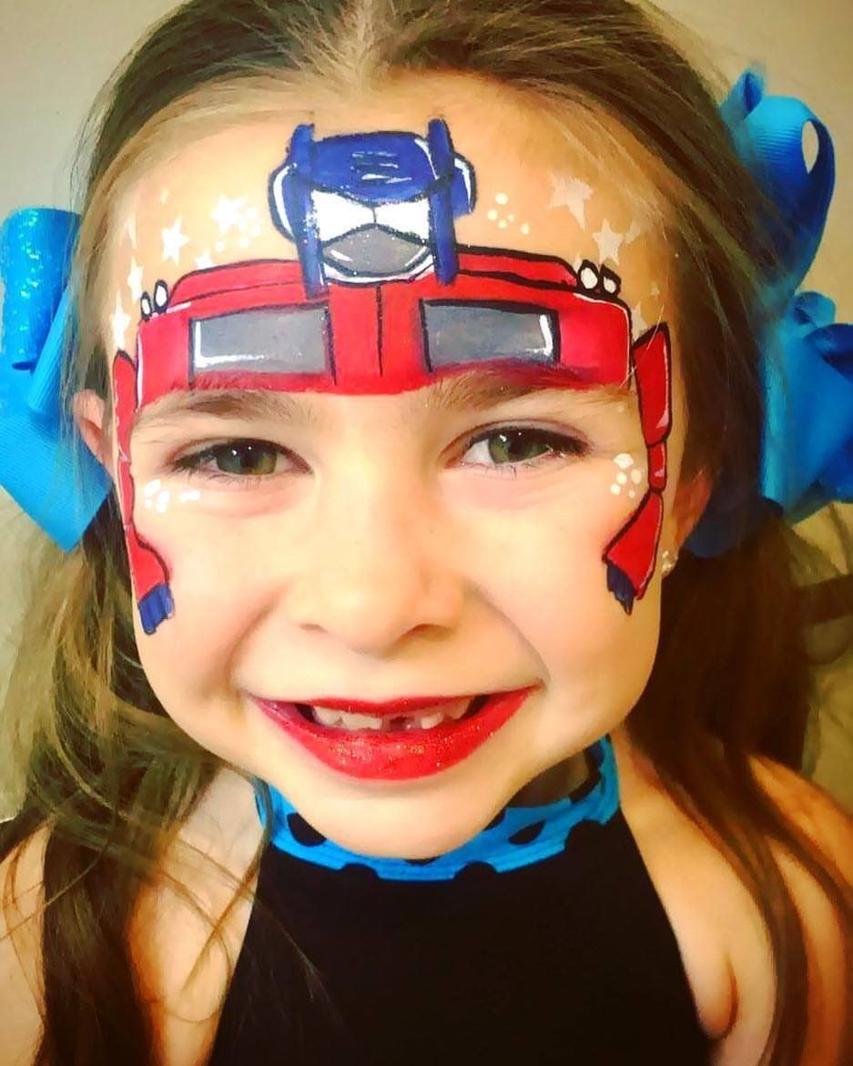 Optimus prime transformer face painting | Face Painting | Pinterest