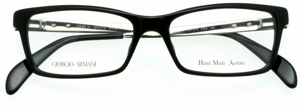 064598f644 GIORGIO ARMANI WOMENS Eyeglass Frame Polished Black-Brush Silver GA872 CSA  51mm