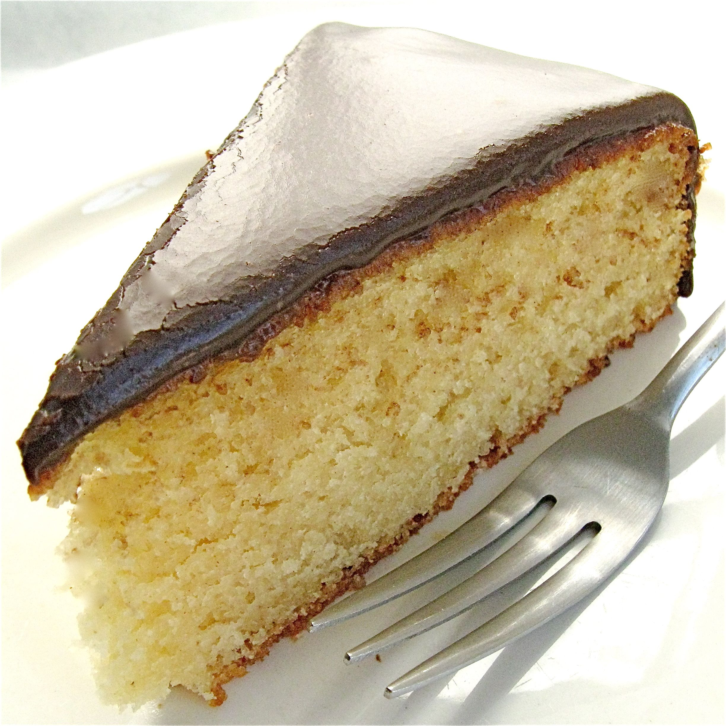 classic yellow cake with fudge icing | Baking | Pinterest