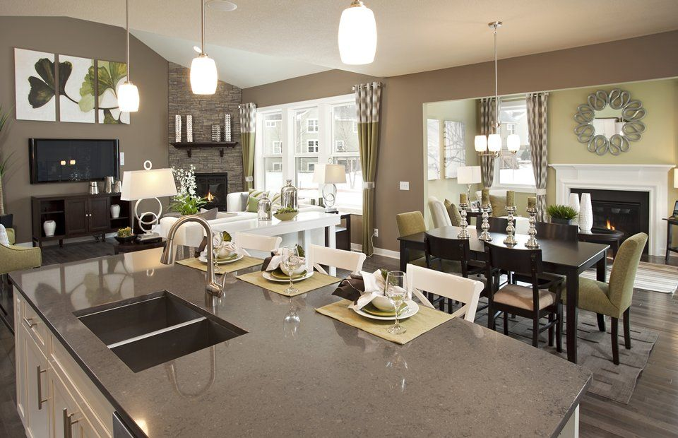 Gray and Green Paint Colors - Pulte Homes Love color scheme ...