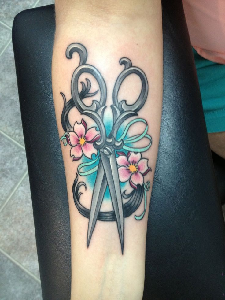 Cosmetology Tattoos Designs Ideas And Meaning: Hair Scissor Tattoos On Pinterest