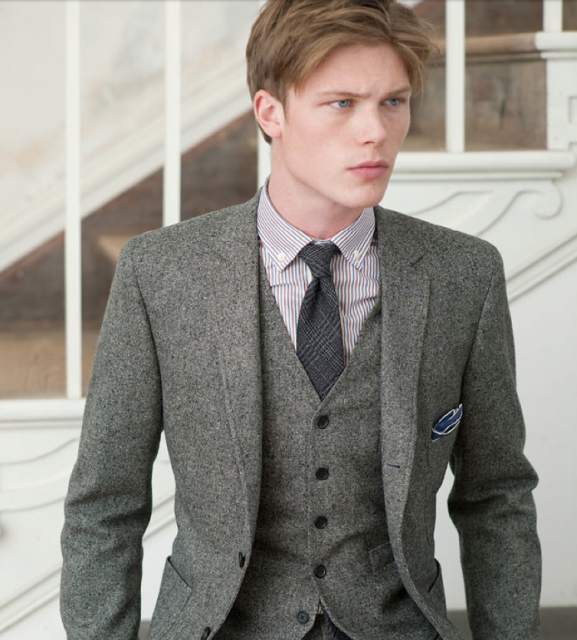 Billy Reid F/W '11    Looks like tweed, but doesn't have the pattern, wonder what it is...