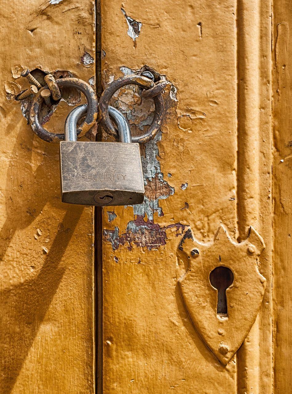 Free Image on Pixabay Padlock, Door, Lock, Key Hole