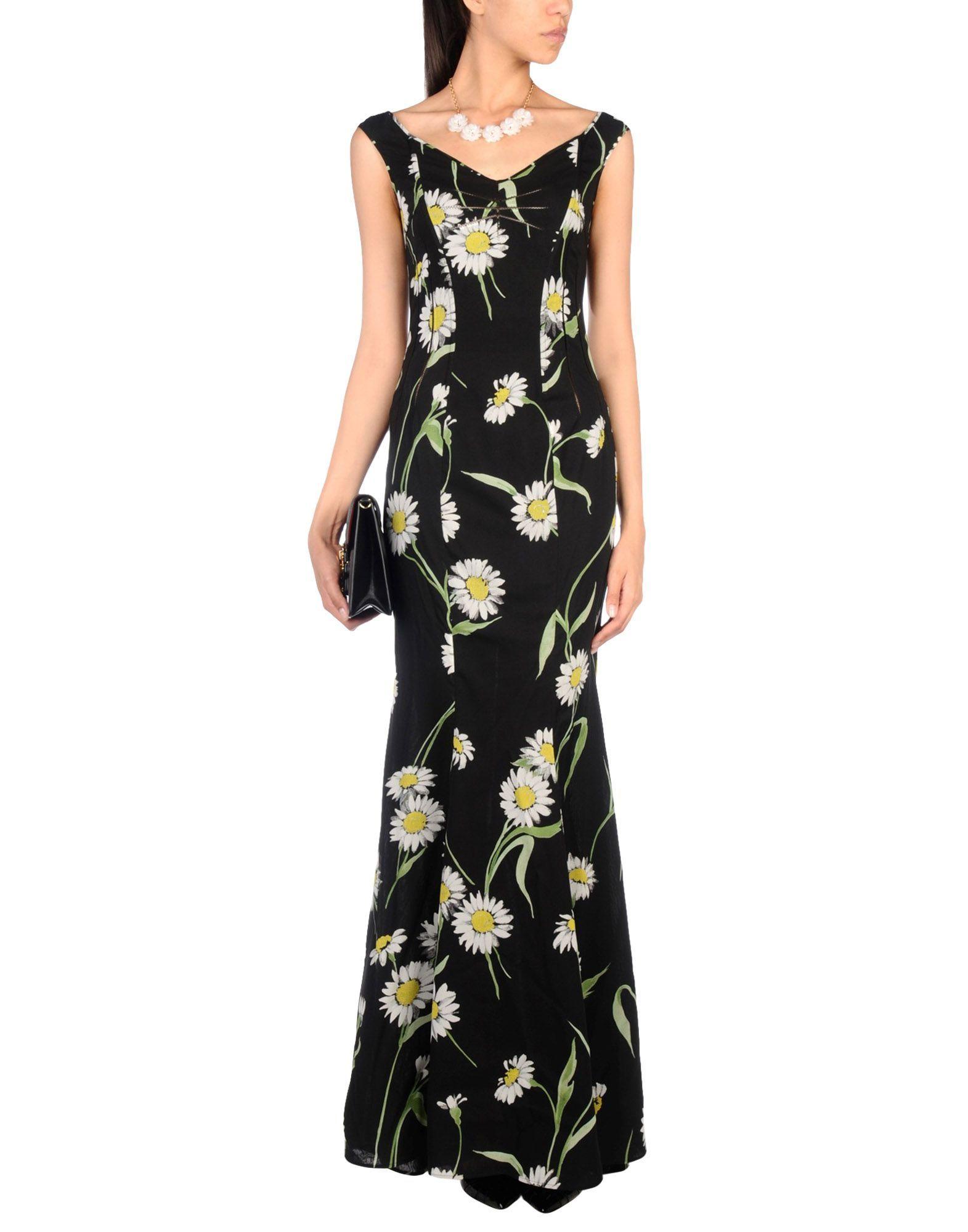 Vestiti Eleganti Yoox.Dolce Gabbana Vestito Lungo Vestiti Abiti Da Sera Eleganti