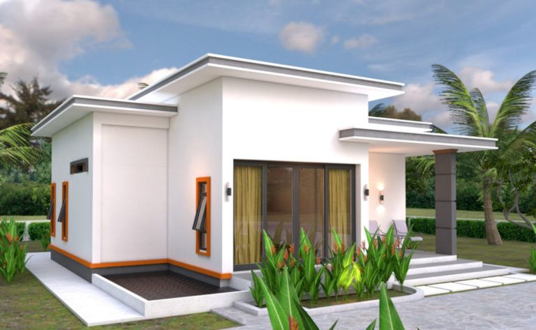 Modern House Plans 10 7×10 5 With 2 Bedrooms Flat Roof Engineering Discoveries