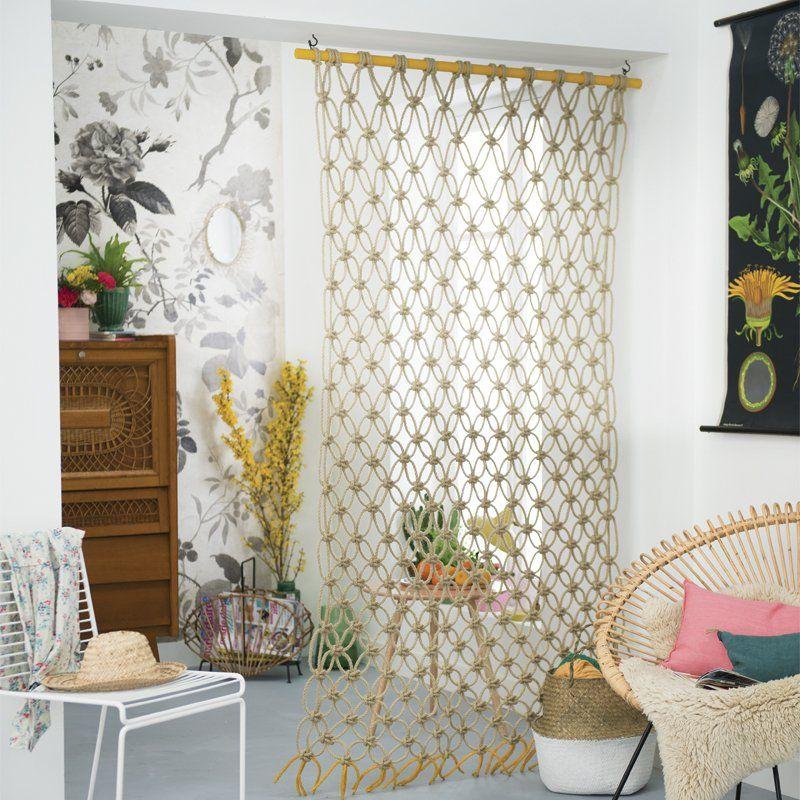 diy petit espace une cloison suspendue en macram. Black Bedroom Furniture Sets. Home Design Ideas