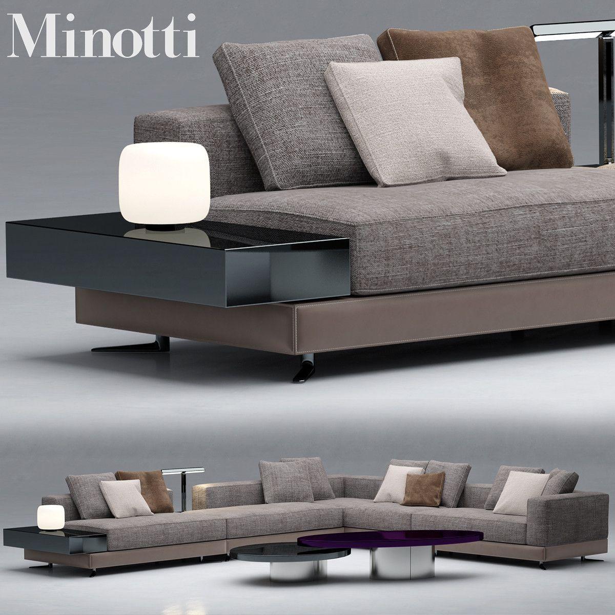 Max Sofa Minotti - 3D Model
