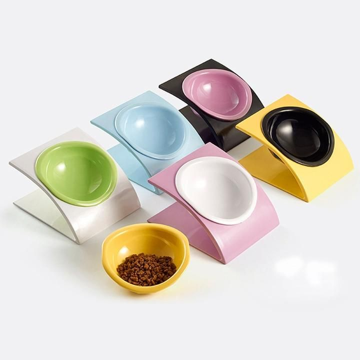 elevated dog food bowl set