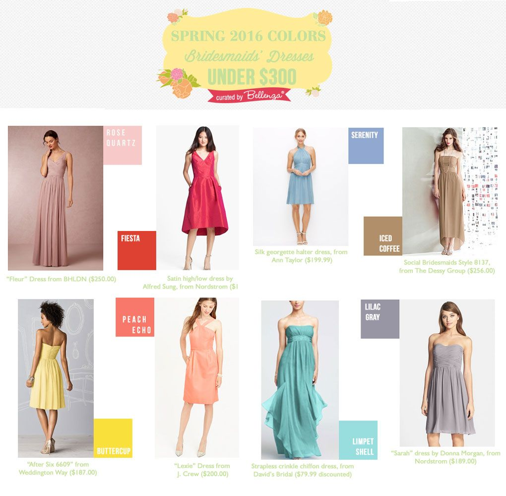 Wedding dresses under $300  Spring  Colors for Bridesmaidsu Dresses Under   Pinterest