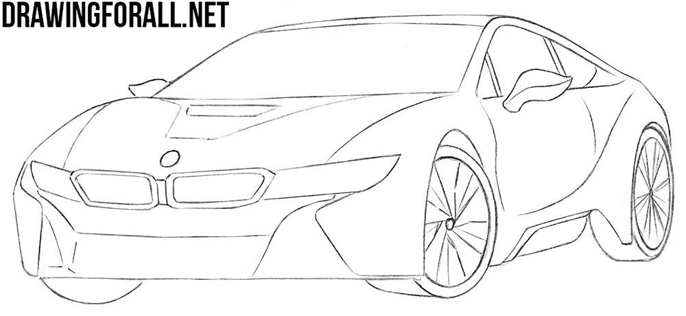 How To Draw A Bmw I8 Step By Step Bmw I8 Bmw Art Bmw