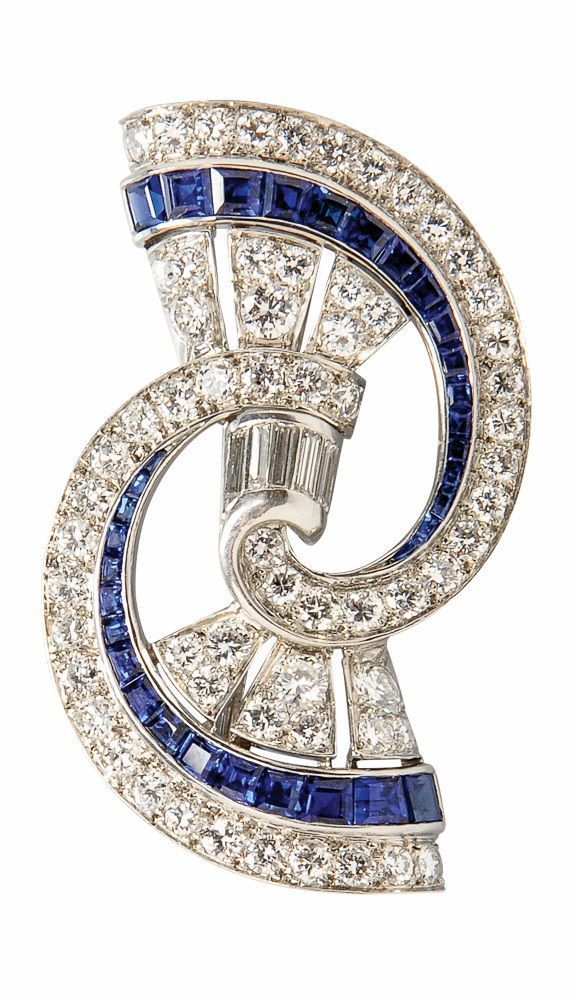 missiaglia brooch jewelry brooches sapphire at for sale and l diamond j id