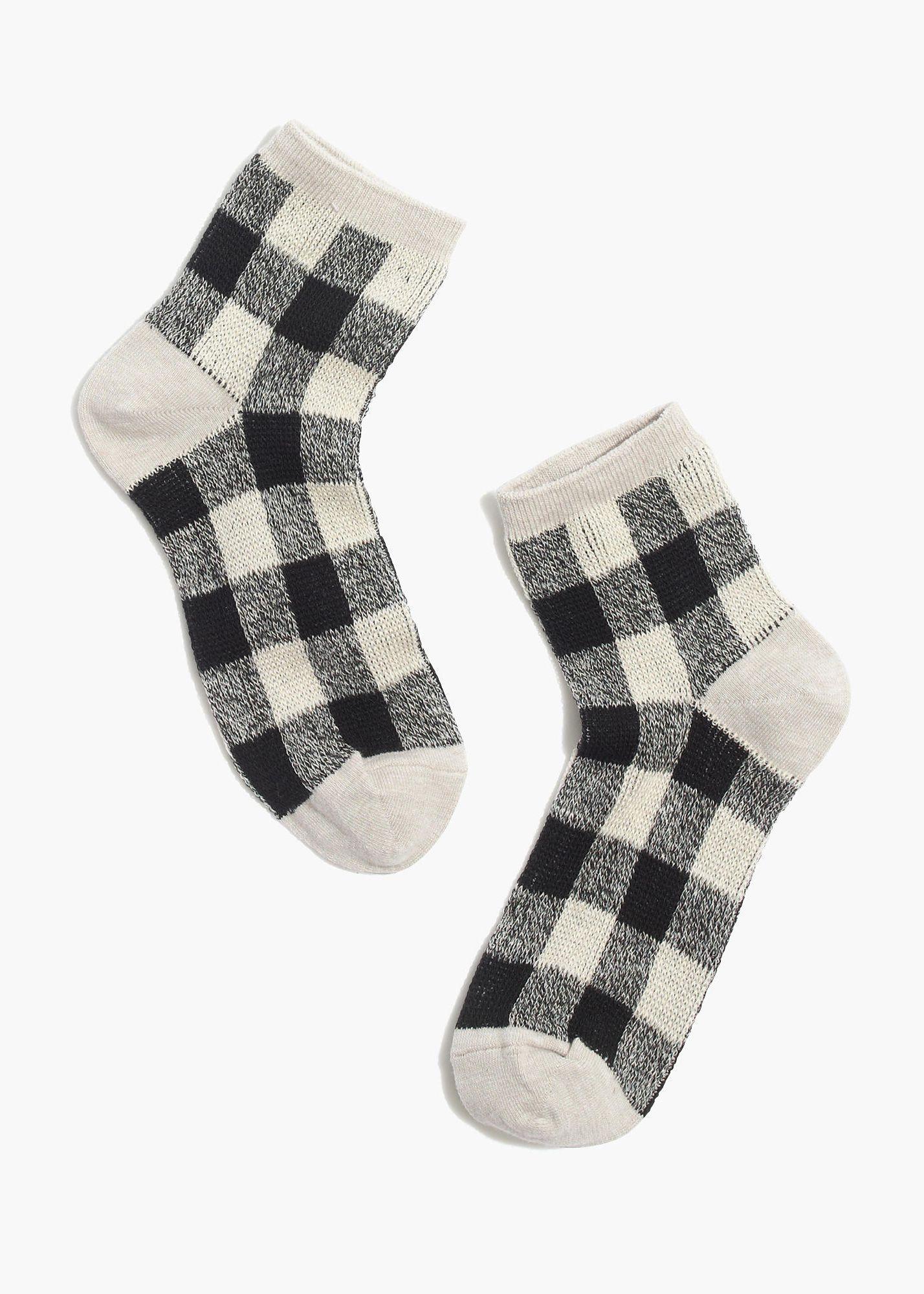 Buffalo Check Ankle Socks Fashion Socks Socks And Hosiery Sock Outfits