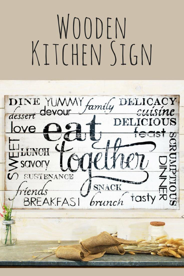 Wooden kitchen sign kitchen wall art wall sign wall decor