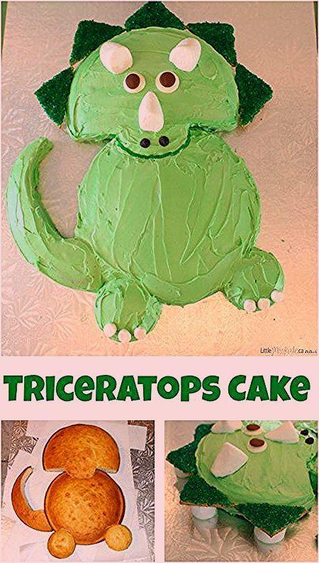 Fantastic Easy Triceratops Dinosaur Birthday Cake Recipe For A Dinosaur Funny Birthday Cards Online Inifodamsfinfo