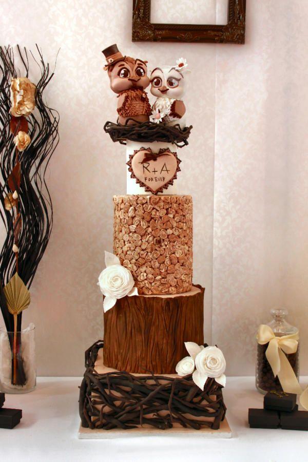 Mr. & Mrs Owl say I dooooooooo by Delicut Cakes - http://cakesdecor ...