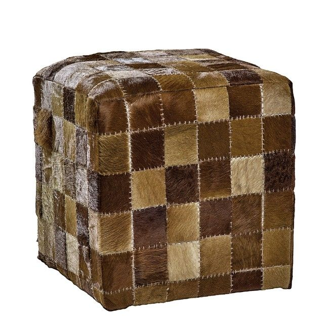 Puff Cube Med Brown 45x45x45 #puff #cube #brown #marrone #pelle ...
