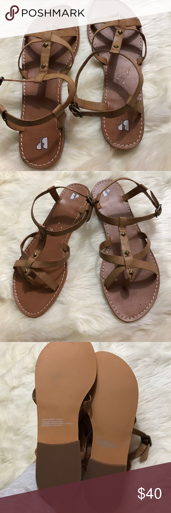 BP SANDALS Size 8.5M NWOT New without tags or box. Size 8.5. No flaws. Perfect for spring and summer. Sorry no trades! Offers are absolutely welcome. 😊 bp Shoes Sandals