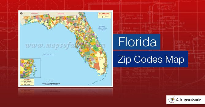 Zip Codes Florida Map.Get To Know Zip Codes Of All The Areas Of Florida Usa Rollover