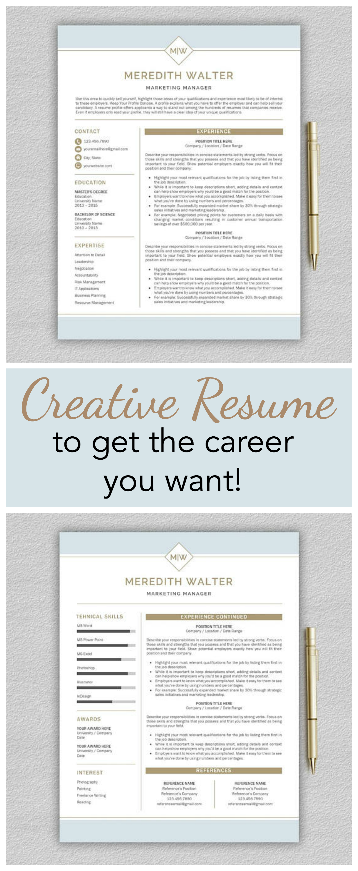 Love Love Love How Professional Yet Creative This Resume Looks