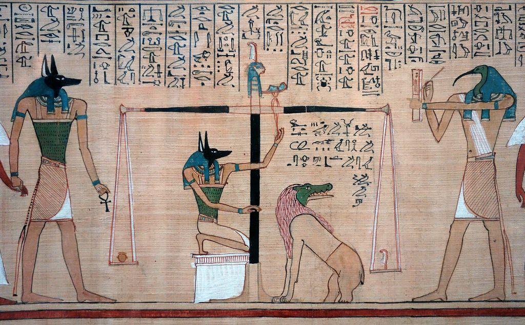 Hunefer's Judgement in the presence of Osiris, Book of the ...  Judgement Before Osiris