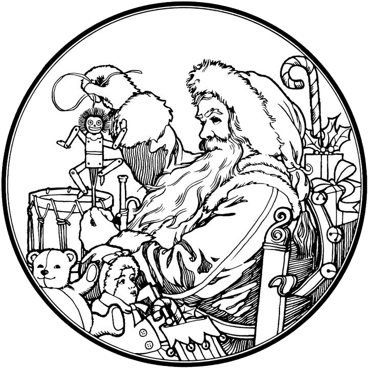 Santa Claus Coloring Pages 4