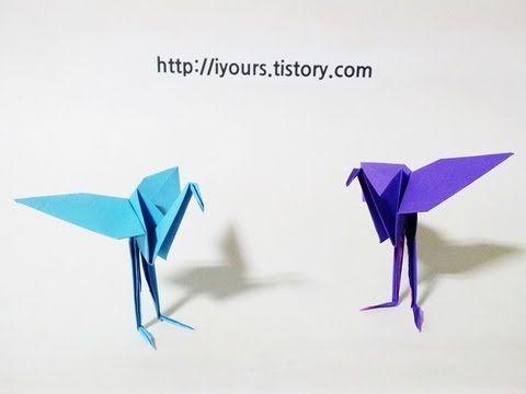 Origami Flamingo Tutorial Youtube Paper Crafts Pinterest