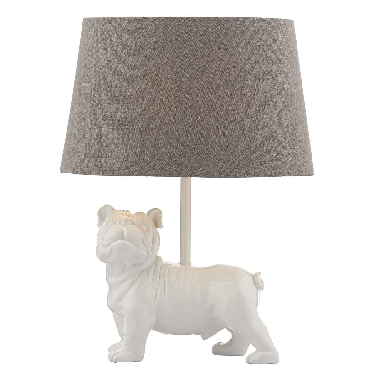 Fido Table Lamp White complete with Shade Table lamp