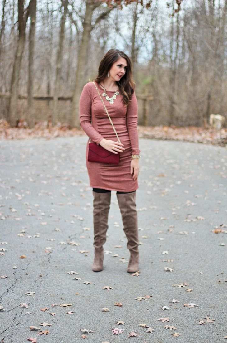 70f1c23d9c3 Bright on a Budget  Glittery Sweater Dress for New Year s Eve