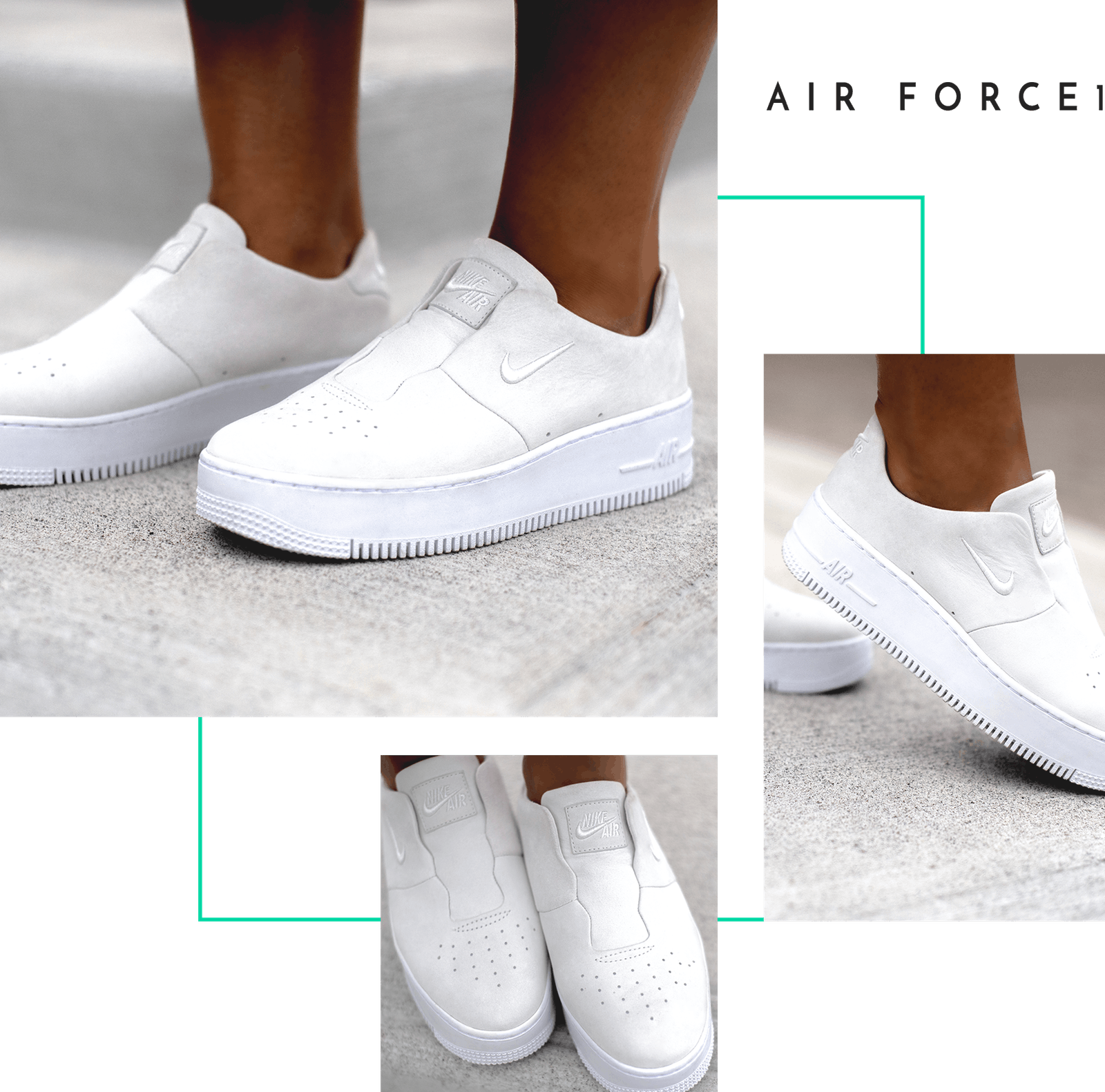 Nike The 1 Reimagined SAGE Air Force Jordan On Feet Closer Look Women  Exclusive Female Designer