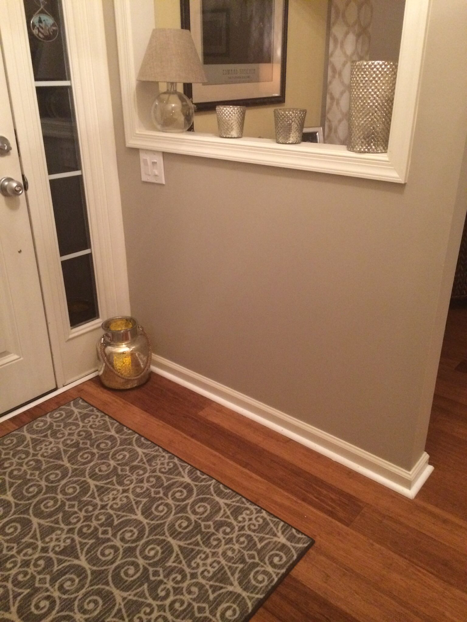 Small entry foyer painted with lyndhurst gallery beige - Small entryway paint colors ...
