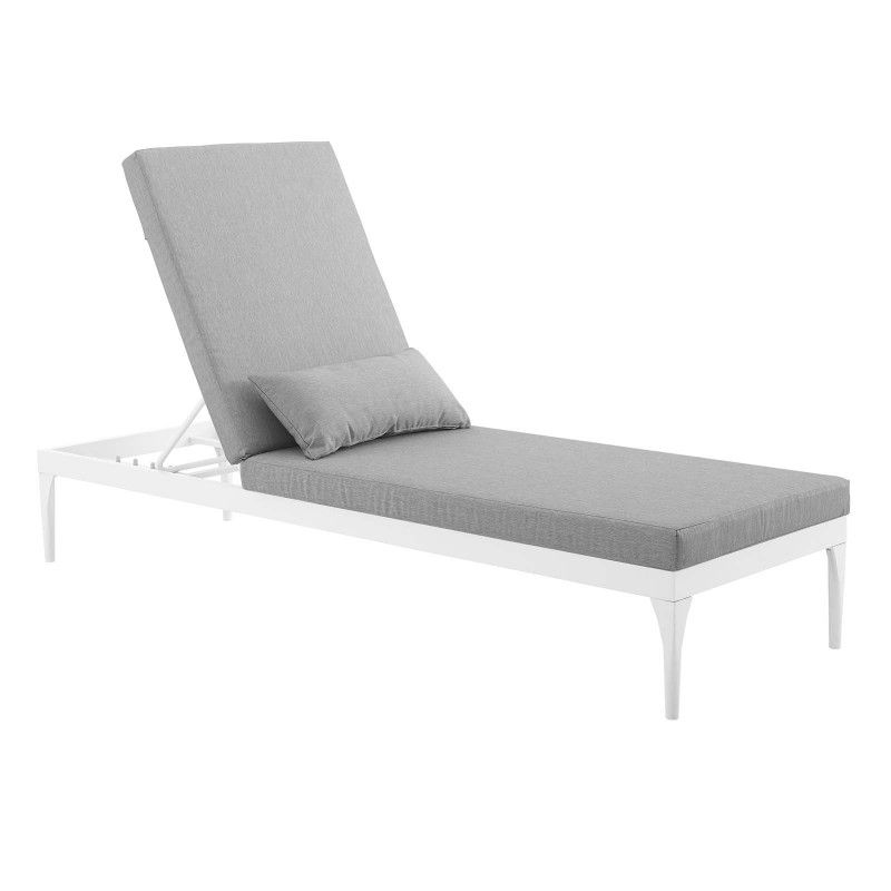 Perspective Cushion Outdoor Patio Chaise Lounge Chair White Gray Chaise Lounge Chair Outdoor Patio Chaise Lounge Teak Chaise Lounge