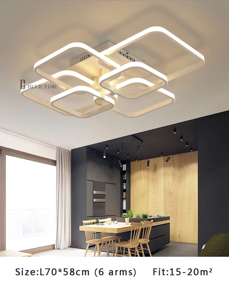Modern Led Ceiling Light With Remote Control Excelsior Kitchen Lighting Lamp Walllamp Homedecor Roo Ceiling Lights Modern Led Ceiling Lights Led Ceiling