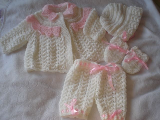 Lacey Lace Coat Matinee Set Baby Or Reborn Knitting Pattern Doll