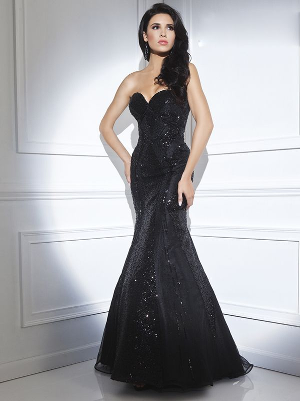 2014 Style Sheath/Column Strapless Prom Dresses/Evening Dresses #GY114