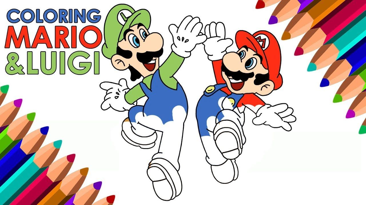 Draw Mario Luigi For Children