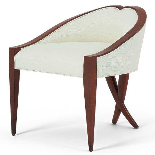 hand-carved back with X legs -- Christopher Guy Boudoir Chair