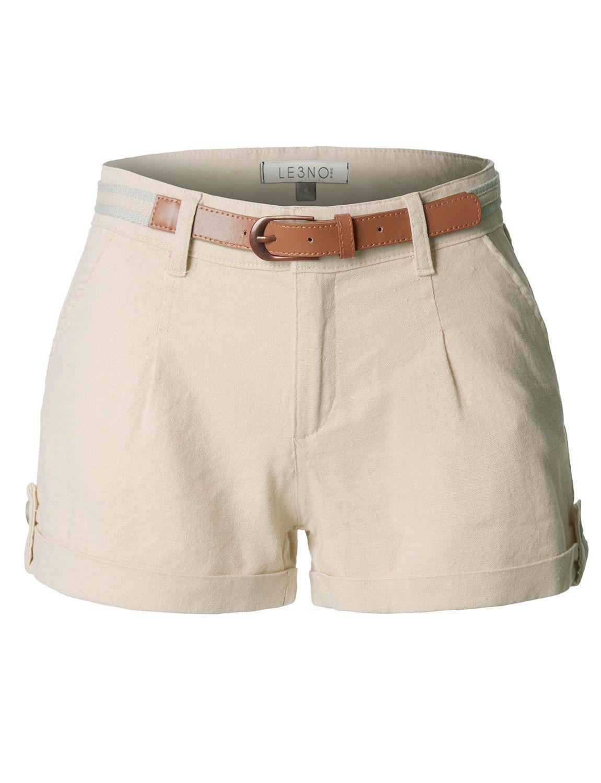 5603b4282 Casual Summer Linen Shorts with Removable Belt en 2019 | pantalones ...