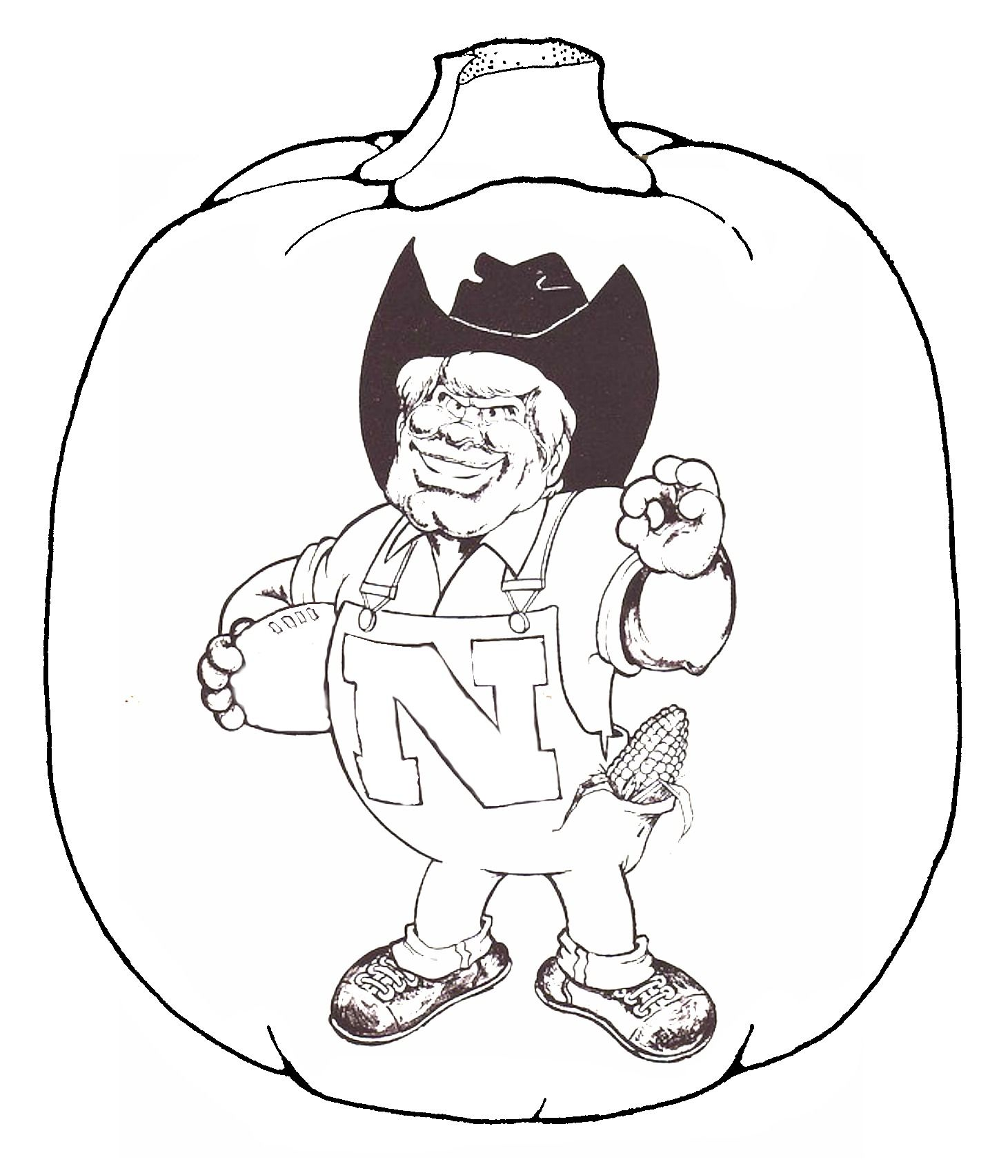 Herbie Husker Coloring Page For