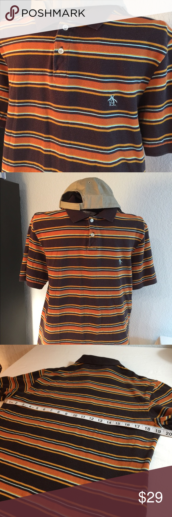 b948ca2d Men's vintage Penguin polo shirt,small, fall color Great classy vintage  shirt in dark