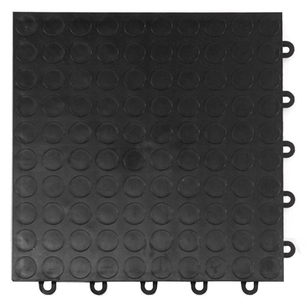 Motordeck 12 In X 12 In Diamond Graphite Modular Tile Garage Flooring 24 Pack G90024grph Garage Floor Tiles Tile Floor Garage Floor