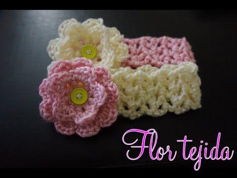 Crochet flor tejida paso a paso youtube ganchillo - Diademas de ganchillo ...
